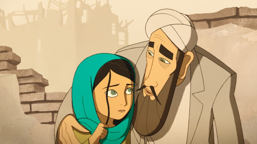 "(L-R) - Parvana in a scene from the animated movie ""Breadwinner."" Credit: Gkids"