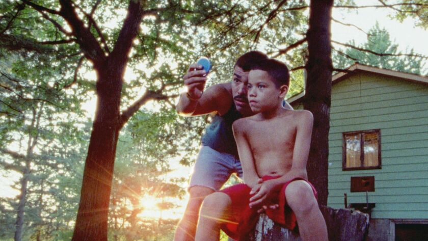 """Raul Castillo, left, and Evan Rosado in a scene from """"We the Animals,"""" the most-nominated film at the Film Independent Spirit Awards."""