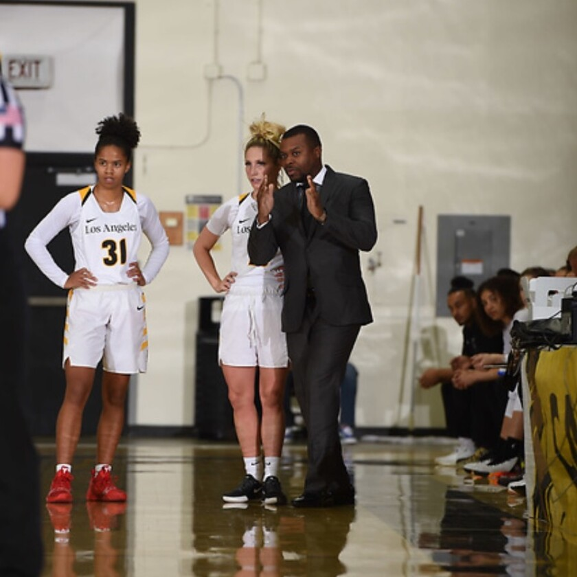 Cal State Los Angeles women's basketball coach Torino Johnson recommends high school seniors whose season have been halted because of coronavirus need to start selling themselves to recruiters.