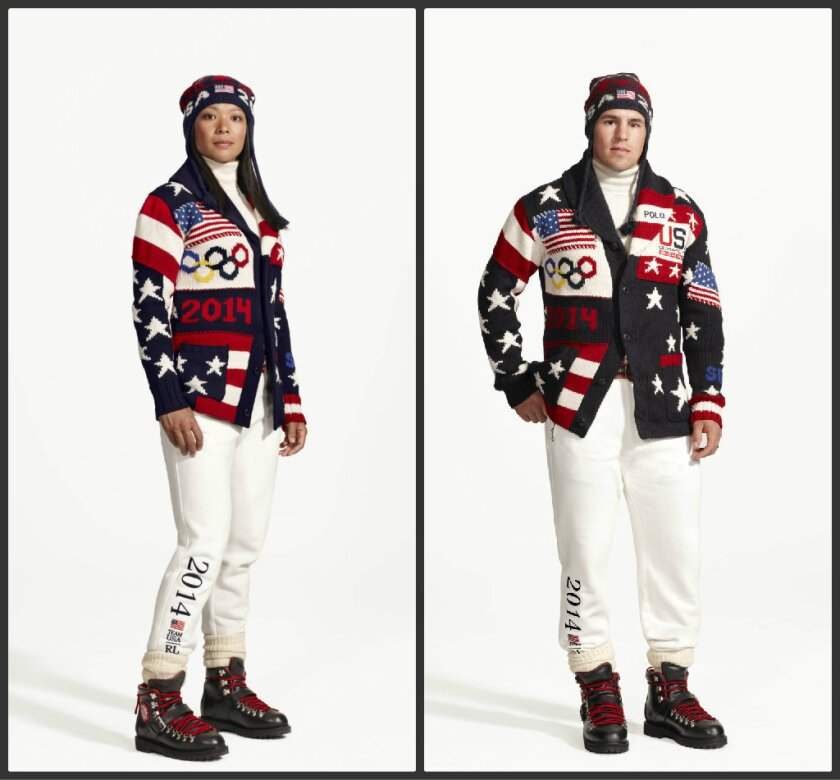 Opening ceremony parade uniform for 2014 U.S. Olympic team
