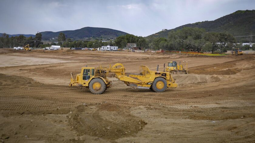Construction is under way at the 20-acre TERI Campus of Life at 555 Deer Springs Road in San Marcos.