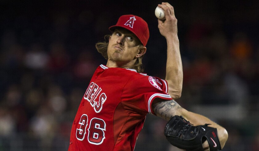 Jered Weaver has solid outing in 5-4 loss to Nationals