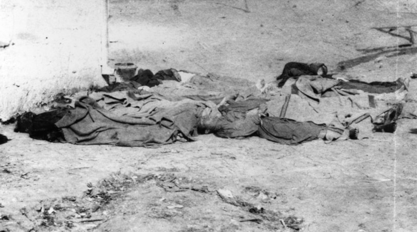 The bodies of Chinese men killed in the 1871 massacre