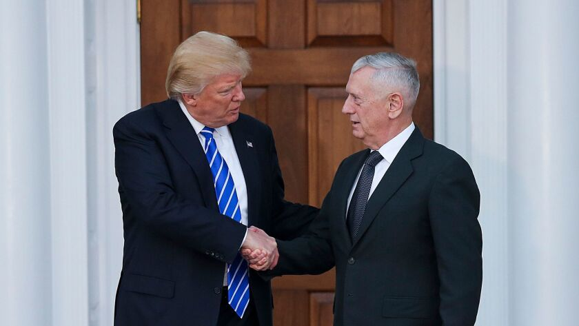 President-elect Donald Trump and retired Marine Gen. James N. Mattis.