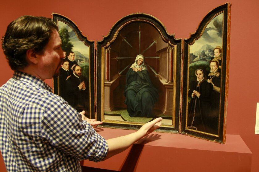"Michael Brown, associate curator of European art, talks about the ""Virgin of Sorrows"" now on display at the San Diego Museum of Art."
