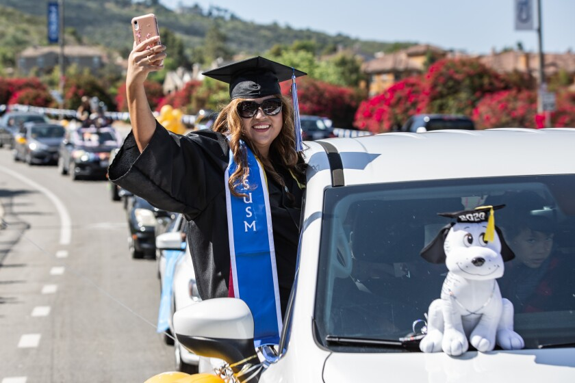 CSUSM's 2020 graduation was confined to a drive-through parade due to the pandemic.