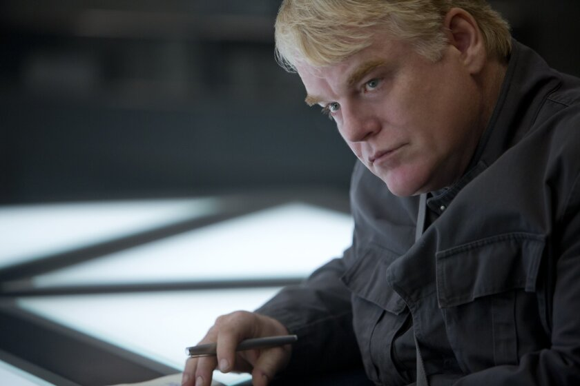 Phillip Seymour Hoffman in 'The Hunger Games: Mockingjay -- Part 1'