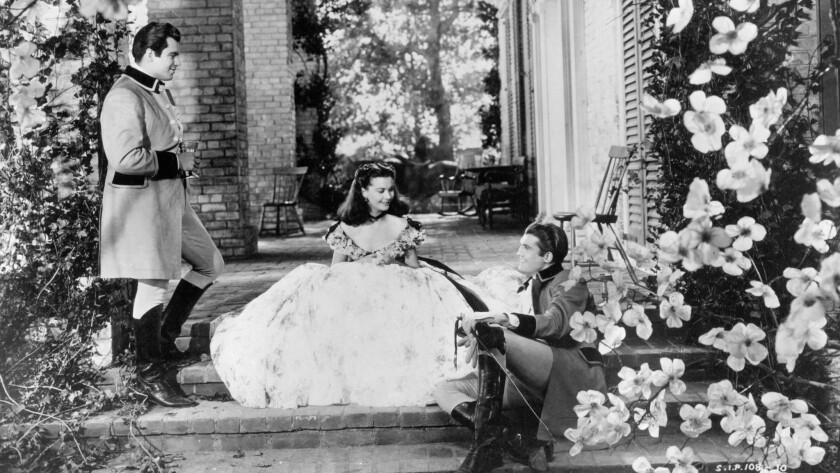 """Fred Crane, left, Vivien Leigh and George Reeves in """"Gone With the Wind"""""""