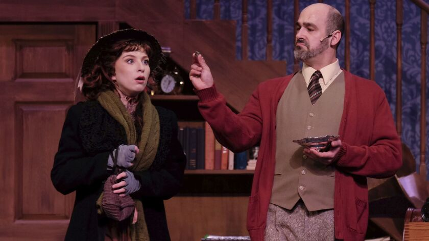 "Shaina Knox (left) and Lance Arthur Smith in Welk Resorts Theatre's ""My Fair Lady."""