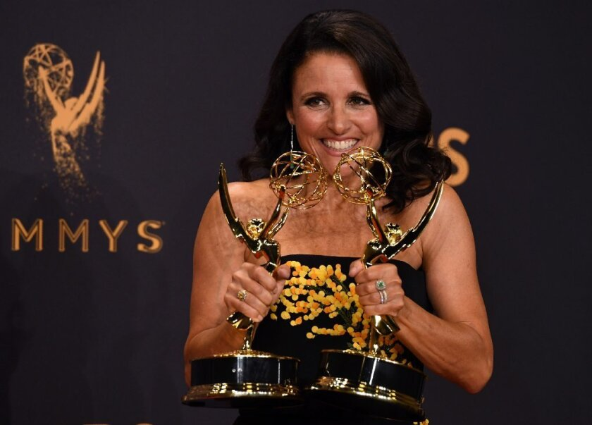 Julia Louis-Dreyfus wins her eighth acting Emmy and sixth in a row in 2017.