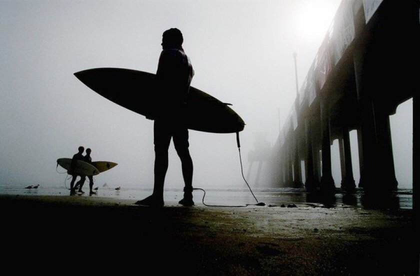 Surfer Alessandro Malo of Brazil at the World Surfing Games in Huntington Beach on July 24, 2013.