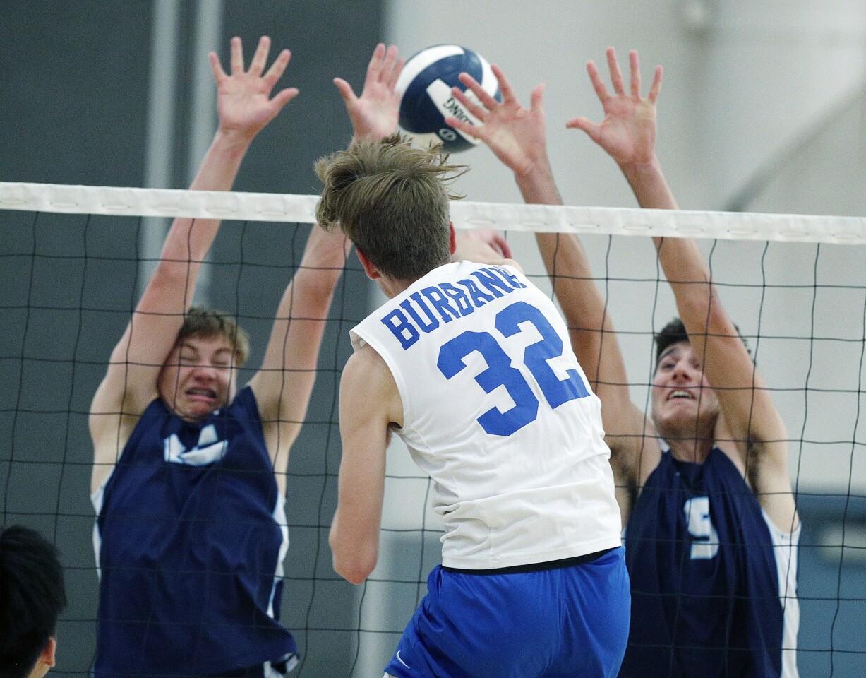 Photo Gallery: Crescenta Valley vs. Burbank in Pacific League boys' volleyball
