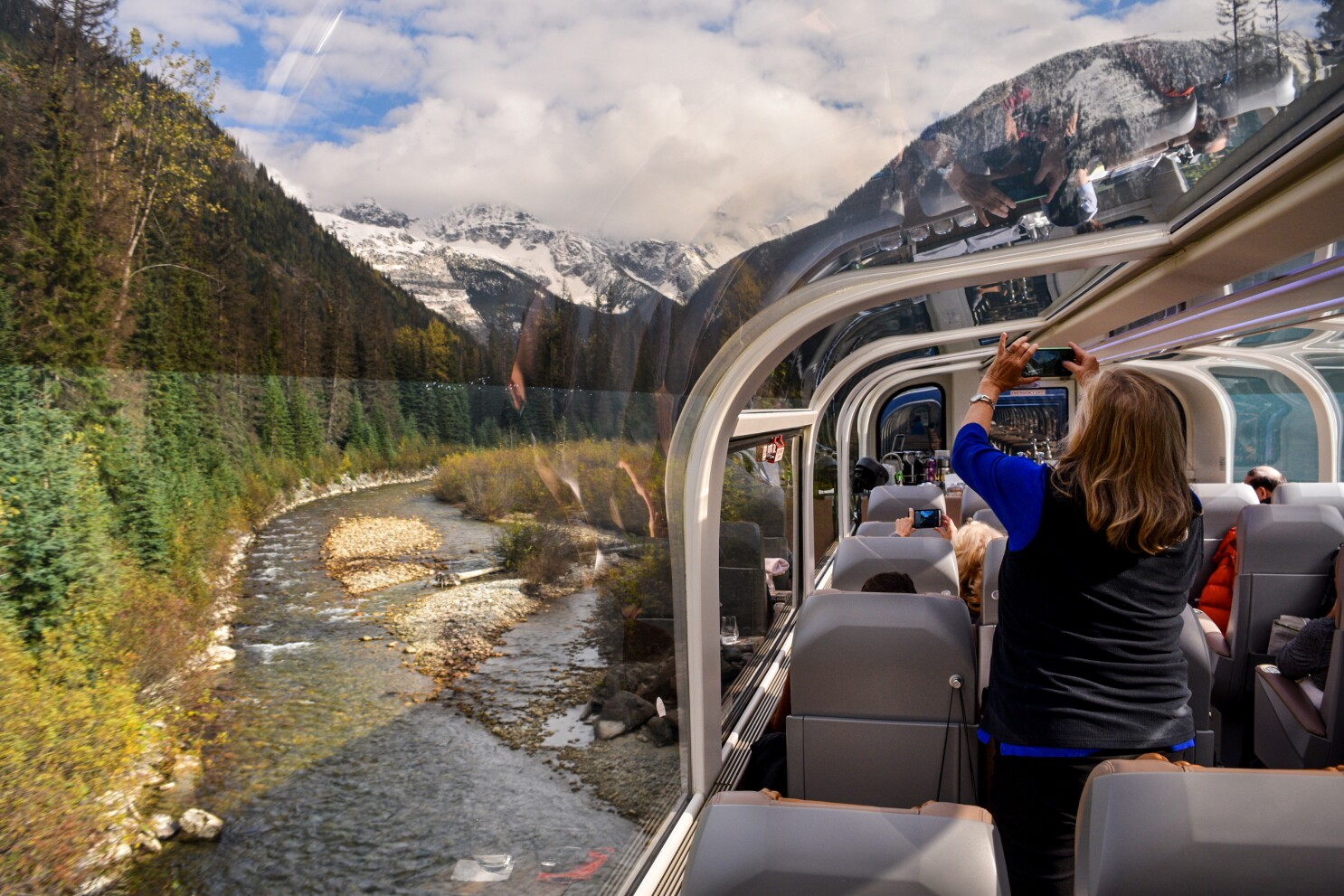 Ride the Rocky Mountaineer and be amazed at the spectacular mountain ranges. And then there's Sasquatch
