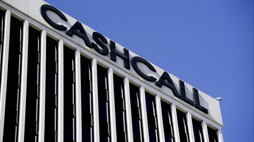 The corporate offices of CashCall are shown Tuesday, Aug. 14, 2018, in Orange, Calif. In a win for c