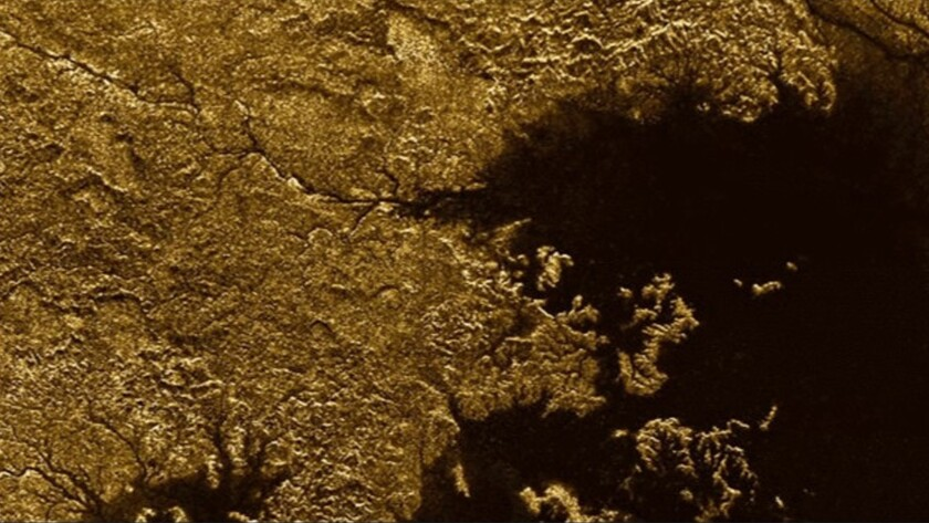 Methane-filled canyons on Saturn's moon Titan