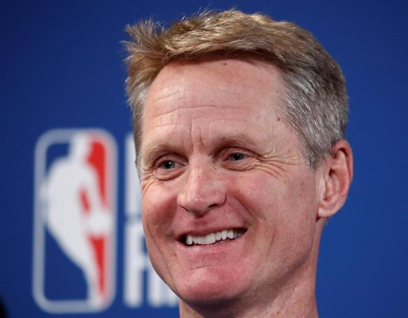 El entrenador de los Golden State Warriors Steve Kerr. EFE/Archivo