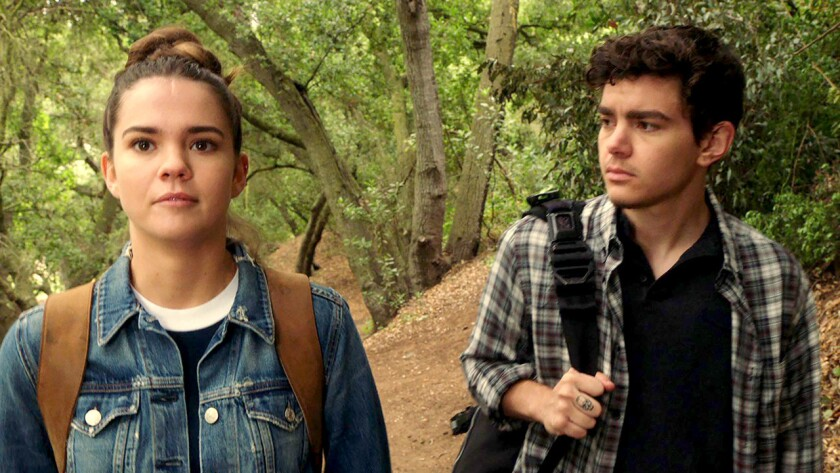 "Callie and Aaron (Maia Mitchell, Elliot Fletcher) in ""The Fosters"" on Freeform."