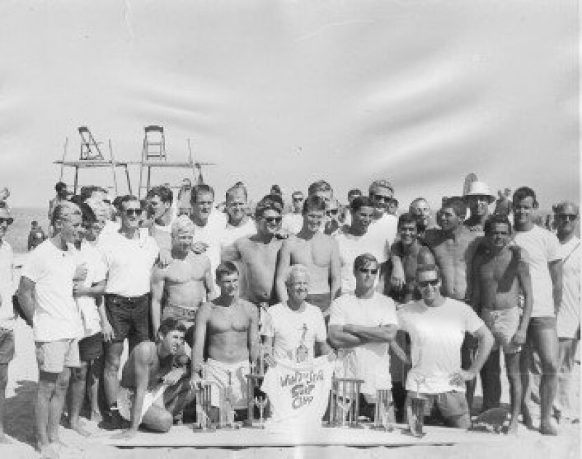 WindanSea Surf Club members gather for a photo after winning their first contest, the Malibu Surfing Association Invitational, on Aug. 25, 1963. Courtesy