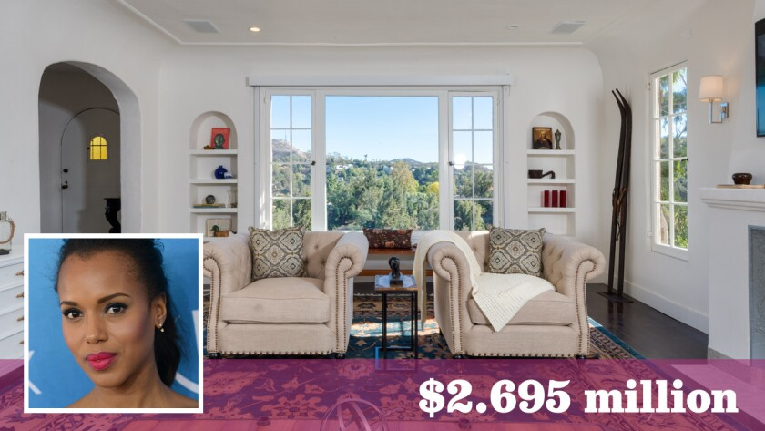 """Scandal"" star Kerry Washington and husband Nnamdi Asomugha bought the house from actress-comic Nicole Sullivan last year."