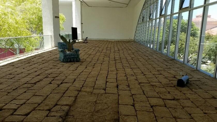 "Rafa Esparza's installation ""tierra,"" 2016, at the Hammer Museum."