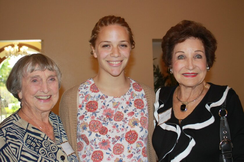 Noreen Haygood with granddaughter Kenda Tucker and friend Esther Nahama