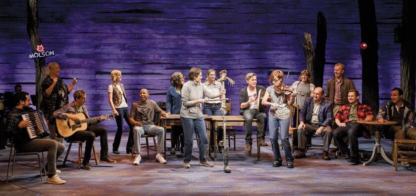The cast of 'Come from Away,' in this world premiere at La Jolla Playhouse.