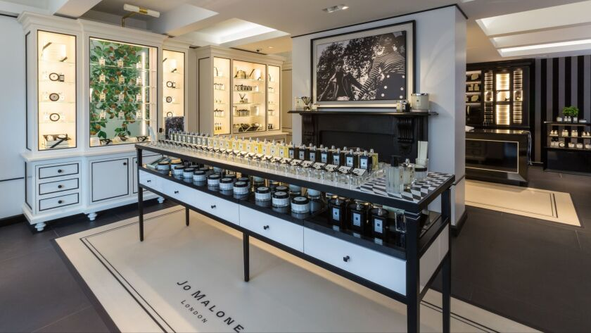 The interior of Jo Malone London's Brighton Way boutique in Beverly Hills.