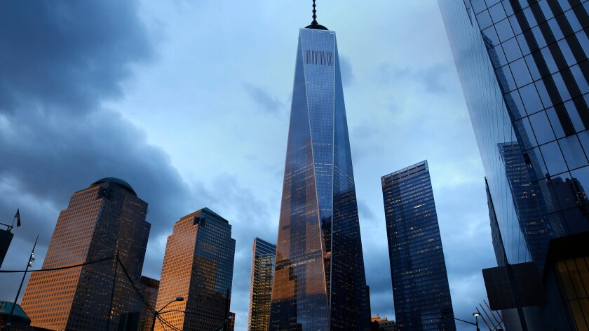 The new World Trade Center is only a block from O'Hara's Restaurant and Pub.