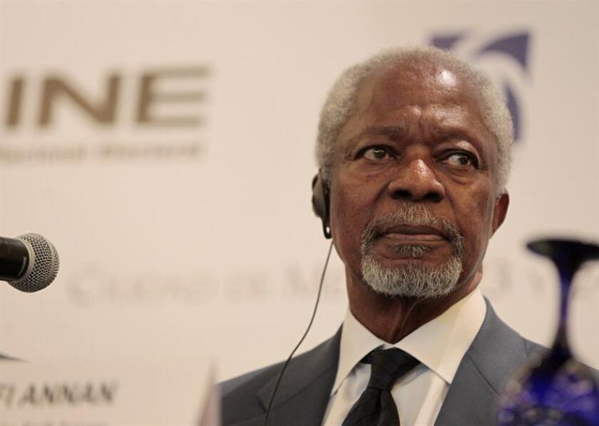 Fotografía de archivo del exsecretario general de la Organización de las Naciones Unidas (ONU), Kofi Annan. EFE/Archivo