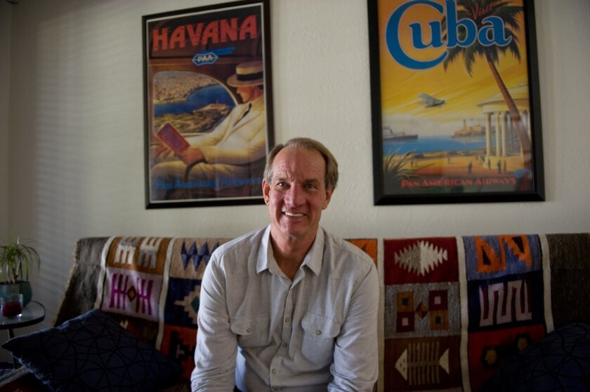 """As the owner of Cuba Cultural Travel in Fallbrook, Michael Sykes has helped arrange for thousands of Americans to visit Cuba through the U.S. Treasury Department's """"People to People"""" program. CREDIT: Tom Pfingsten"""