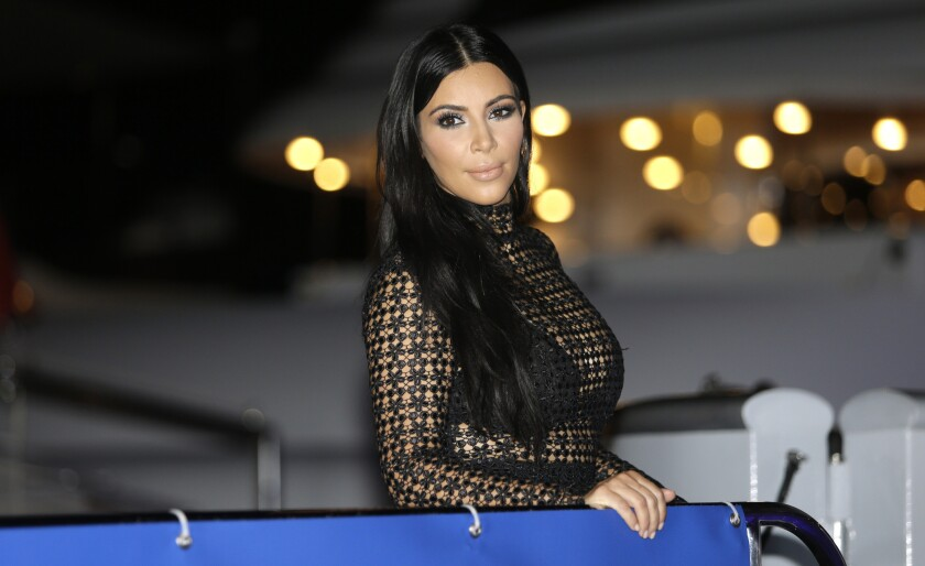 The FDA says Kim Kardashian's remarks omitted risk and usage details for prescription pill Diclegis. The star is seen here in June.
