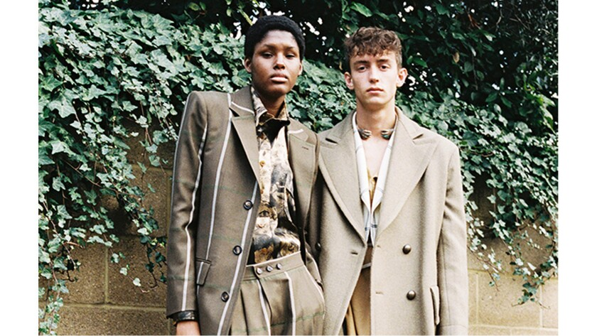 Looks from the Vivienne Westwood unisex collection.