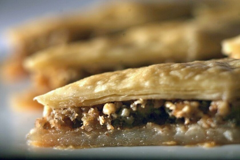 Our favorite baklava recipe. Click here for the recipe.