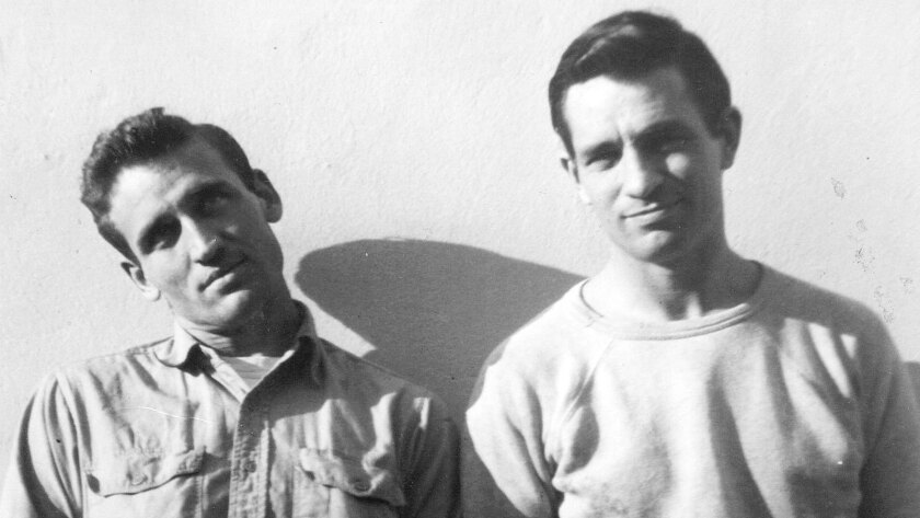 Jack Kerouac, right, with Neal Cassady.