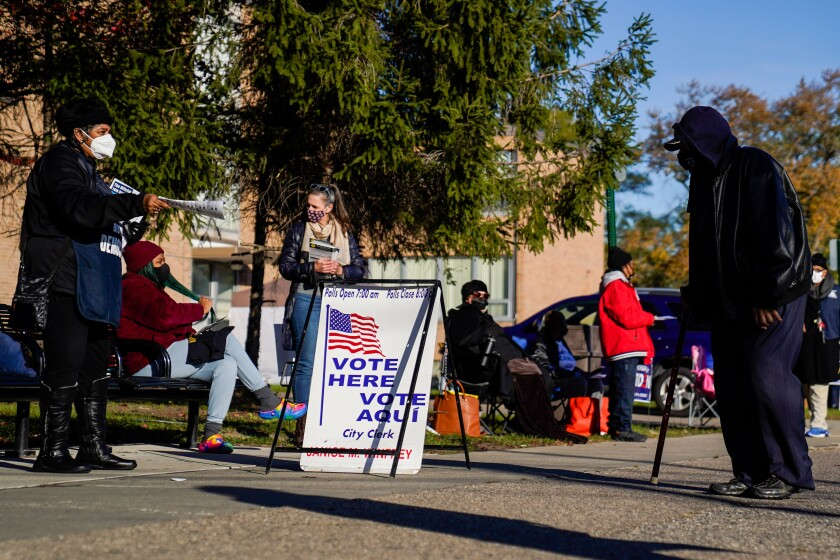 Detroit voters show up on election day