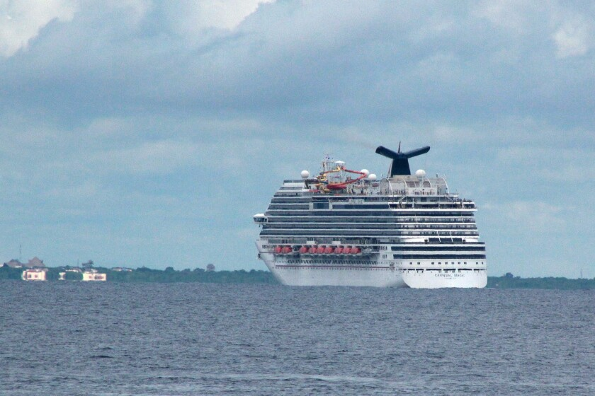 A cruise ship off the coast of Cozumel, Mexico. Travelers whose planned vacations were canceled because of the coronavirus pandemic have found that trip-cancellation and travel insurance policies can range from comprehensive to useless.