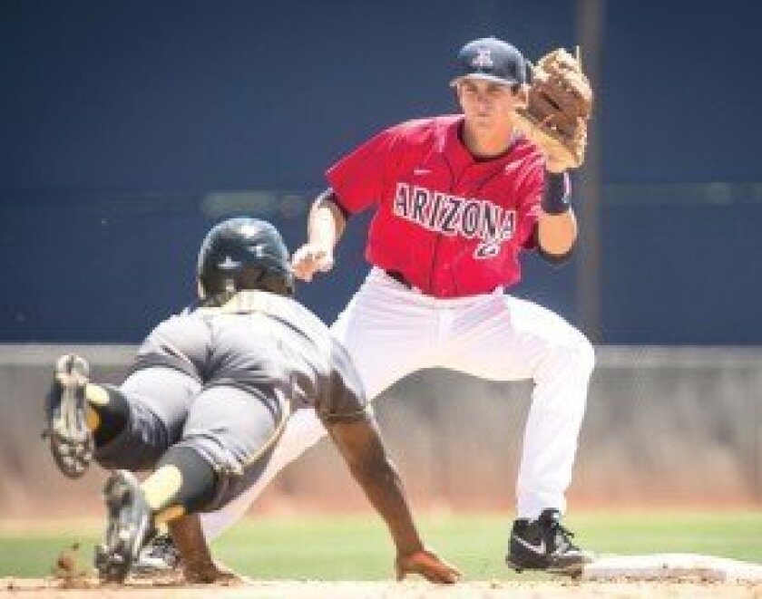Kevin Newman, a 2012 graduate of Poway High, hit .336 and drove in 42 runs as the starting shortstop for the University of Arizona this past season. Photo courtesy of UOA