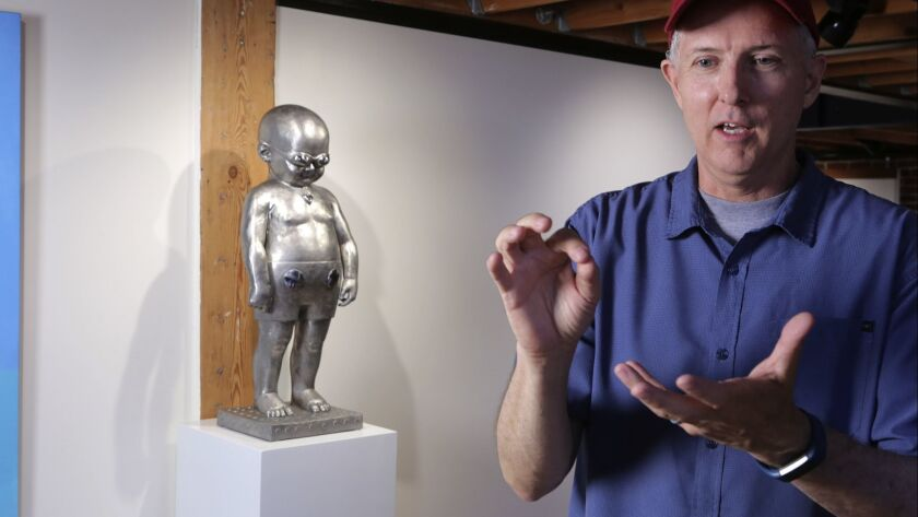 Artist Richard Becker talks about his work at Sparks Gallery in downtown San Diego where his work wi
