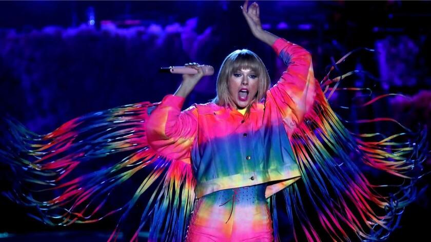CARSON, CALIF. - JUNE 1, 2019. Taylor Swift performs at Wango Tango 2019 at the Dignity Health Spo