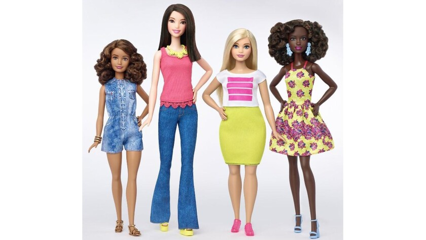 Barbie announced the expansion of its Fashionistas doll line to include three new body types — petite, tall and curvy — and a variety of skin tones, eye colors and hairstyles.