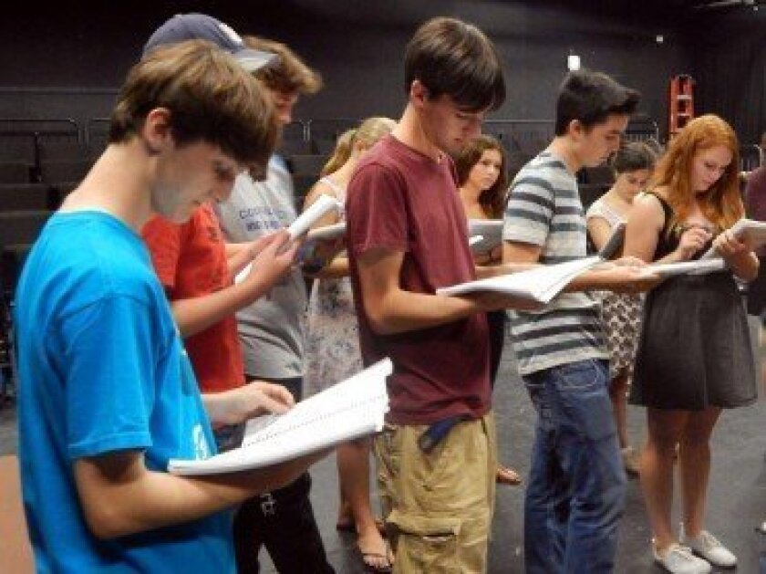 CCA students at rehearsals for 'Zombie Prom,' an off-Broadway musical with a perfect theme for Halloween. Photos by Susan Farese