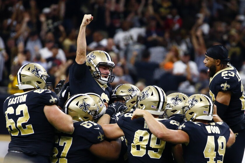 Nfl Wil Lutz S 58 Yard Field Goal Lifts Saints Over Texans
