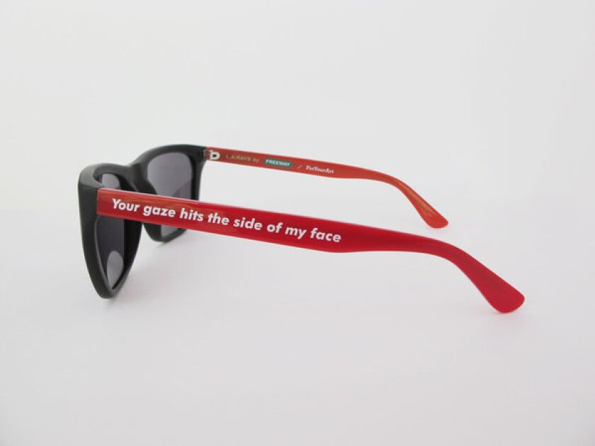 Barbara Kruger, Freeway Eyewear and ForYourArt have collaborated on three styles of sunglasses ($200) that are available for pre-order now, to be delivered in December.