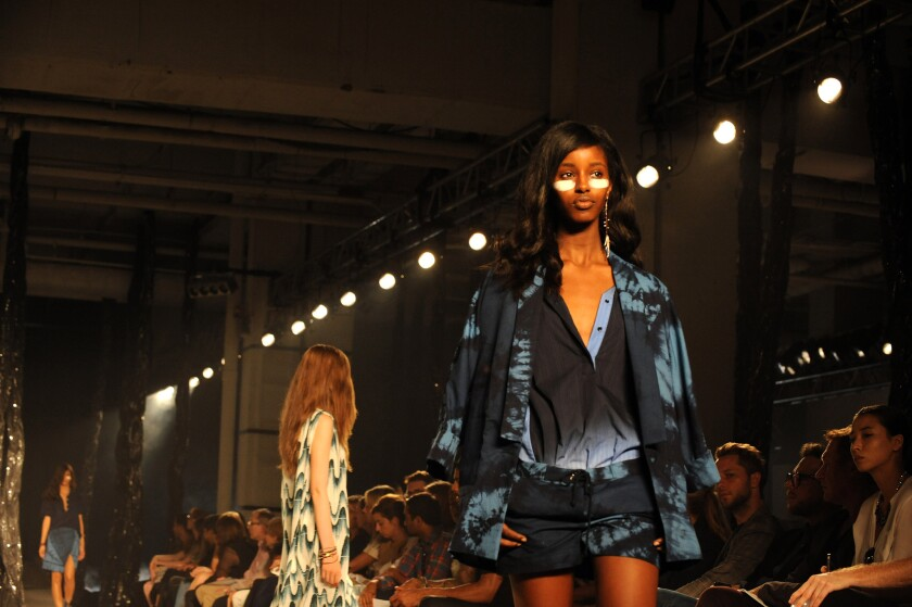 Looks from the September 2012 Band of Outsiders women's collection runway show during New York Fashion Week.