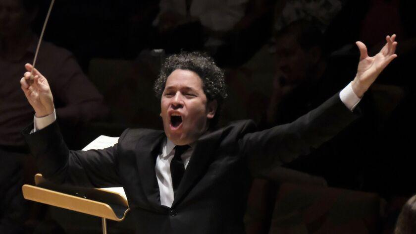 LOS ANGELES, CA MAY 30, 2019: Gustavo Dudamel climaxes the LA Phil Centennial season with the big