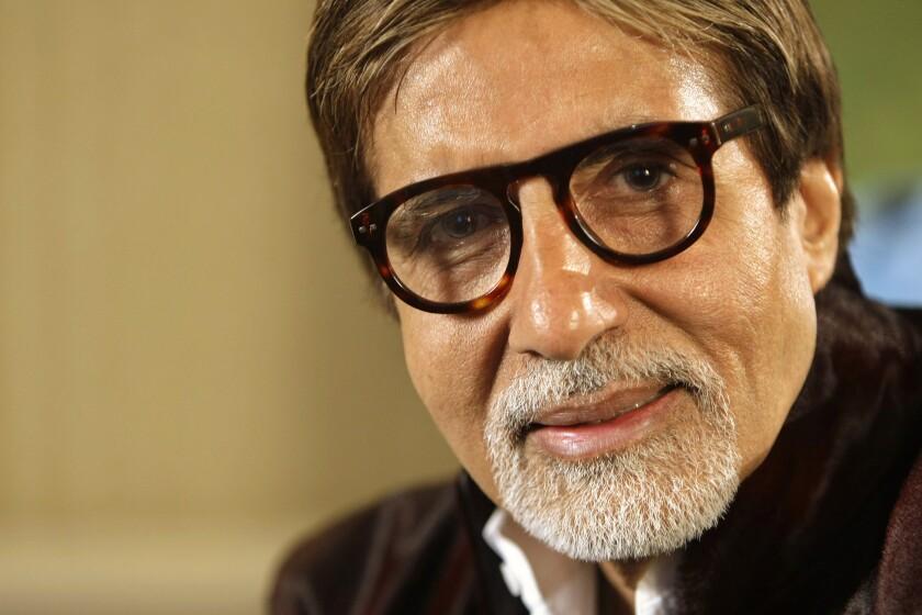 El superastro de Bollywood Amitabh Bachchan durante una entrevista en Londres.