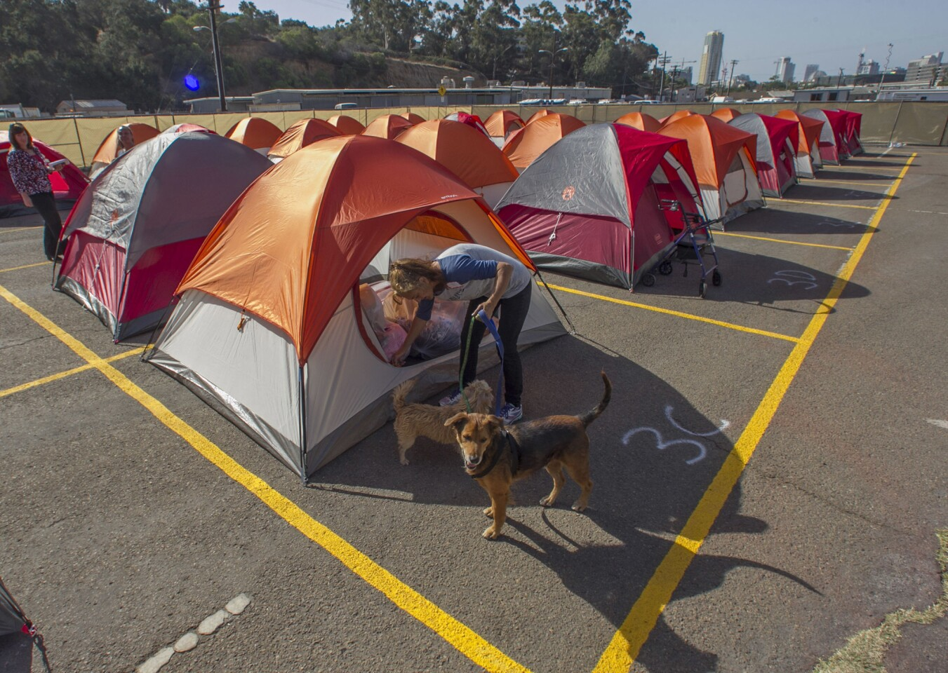 Homeless tent camp opens