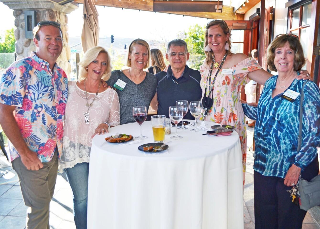 Roger Tellier, Marla Tellier, Pat Schultz, Jack Cohen, Cynthia Elizondo and Linda Goycochea.