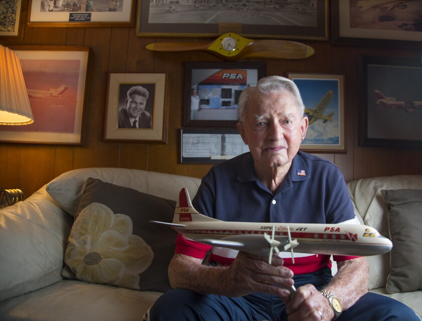 A co-founder of Pacific Southwest Airlines, Leo Leonard, 99, says he'll devote the rest of his days to clearing the reputation of the men and women of PSA Flight 182.
