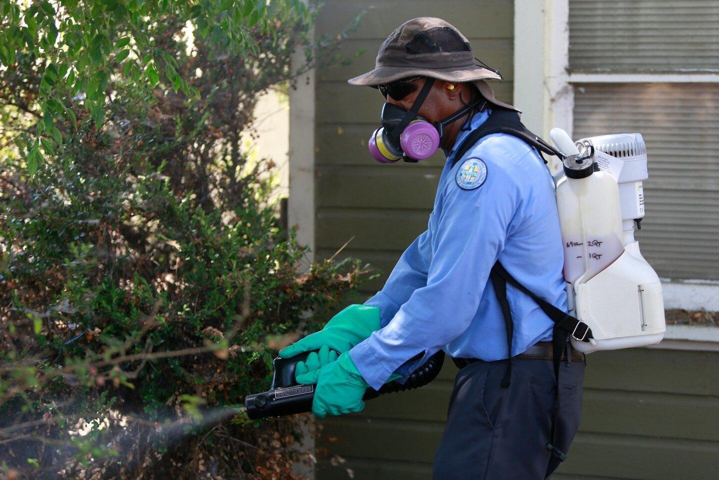 Spraying for the Zika Virus